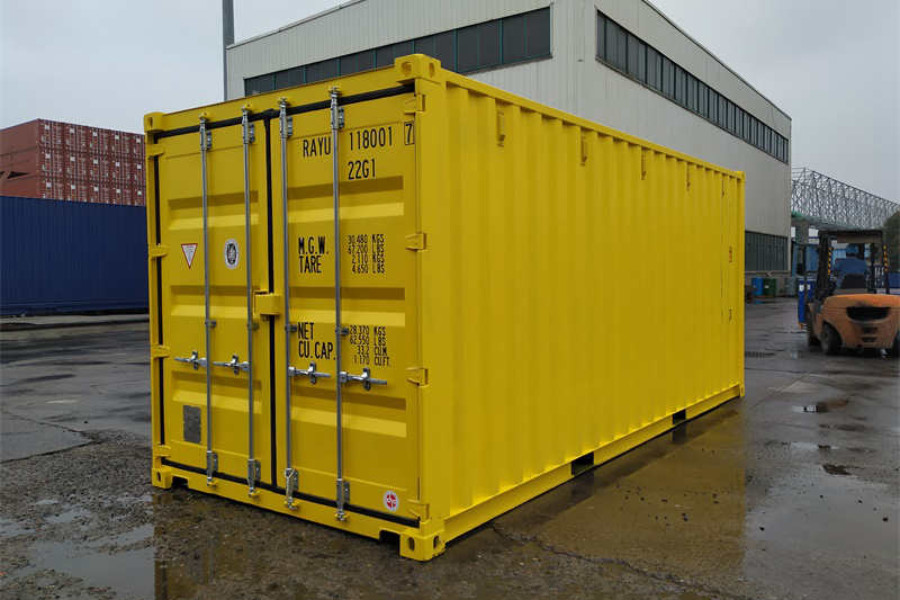 DMS RAL1018 Möbelcontainer